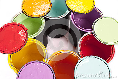 Rainbow Paint Color Circle Cropped