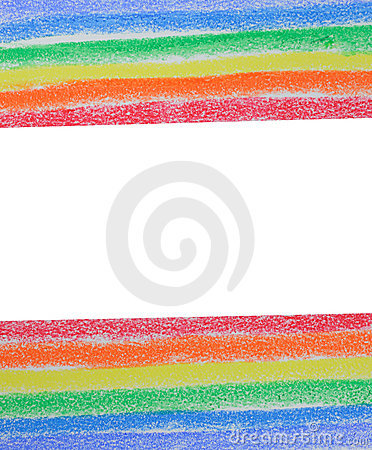 Free Rainbow Painted With Colored Chalk Stock Photography - 18588432