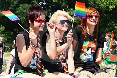 Rainbow parade Editorial Image