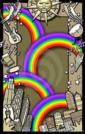 Rainbow party background