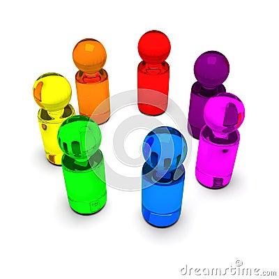 Rainbow people 4