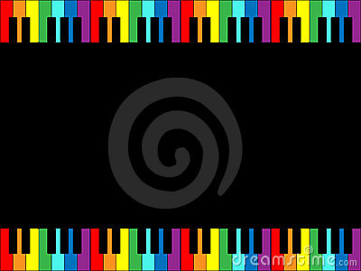 Rainbow Piano Keyboard Border
