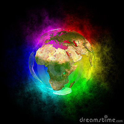 Rainbow planet Earth - Europe
