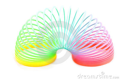 Rainbow plastic spring toy