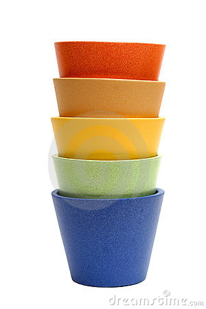 Free Rainbow Pots Royalty Free Stock Photo - 213285