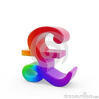 Rainbow pound symbol