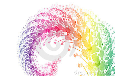 Rainbow Power Wave Abstract Background