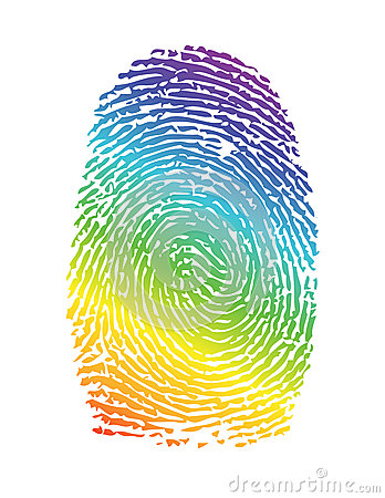 Rainbow pride thumbprint. fingerprint