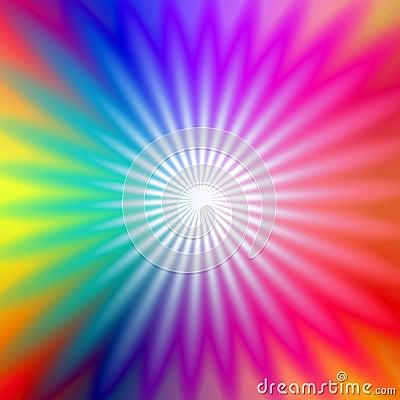 Rainbow radial glow