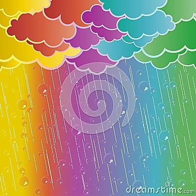 Rainbow rains