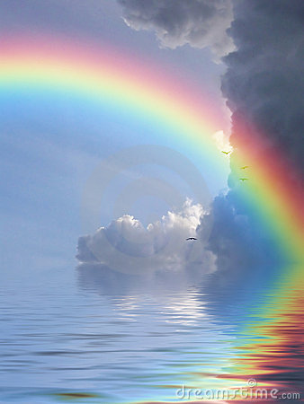 Free Rainbow Reflection Royalty Free Stock Image - 4528956