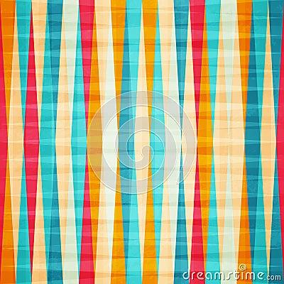 Rainbow rhombus seamless pattern