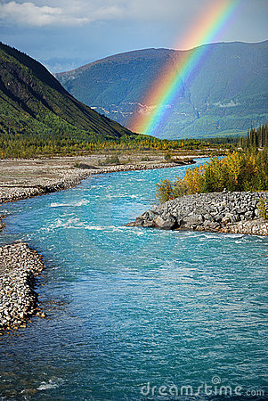 Rainbow and river