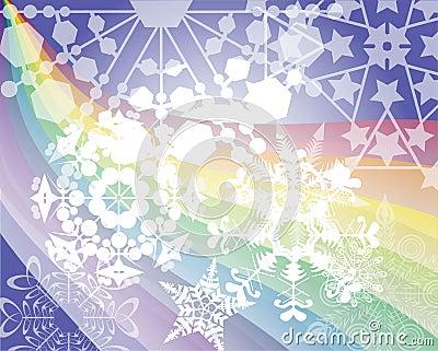 Rainbow s snow flakes
