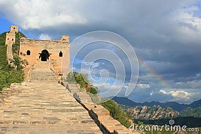 Rainbow at Simatai Great Wall of China