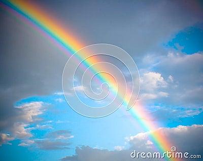 Rainbow sky background