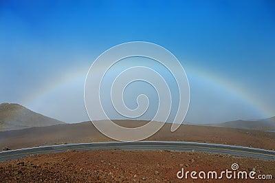 Rainbow, Sky and a Volcano