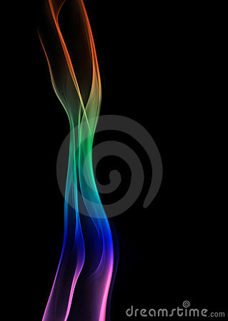 Rainbow Smoke Pillar