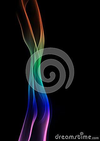 Rainbow Smoke Pillar