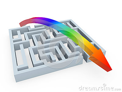 Rainbow solution for puzzle maze