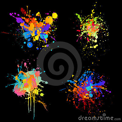 Free Rainbow Splats Stock Image - 8684671