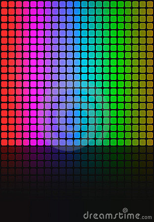 Rainbow Squares Grid Layout