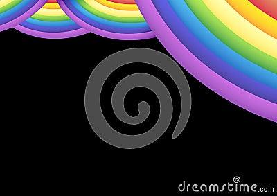Rainbow stage curtain