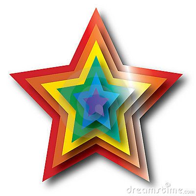 Rainbow Star Royalty Free Stock Photo - Image: 17518275