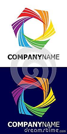 Rainbow star logo element