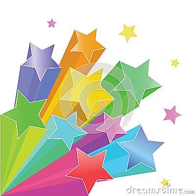 Free Rainbow Stars Stock Image - 11143251
