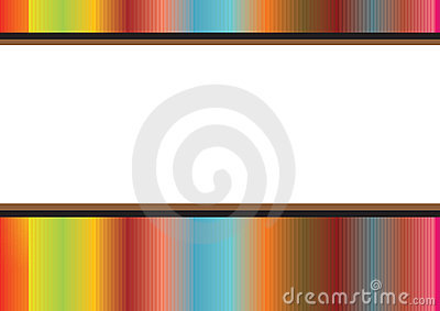Rainbow stripes frame