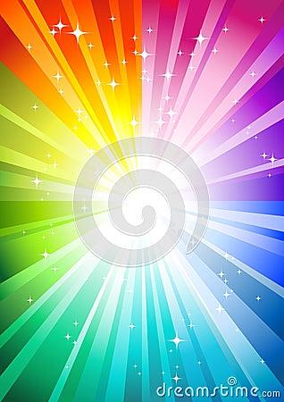 Free Rainbow Sunburst Stock Image - 9448981
