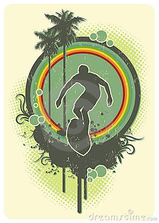 Free Rainbow Surf Stock Photography - 5567842