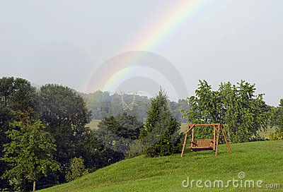 Rainbow swing for two