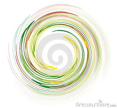 Rainbow swirl design