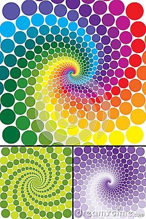Rainbow swirl with variations