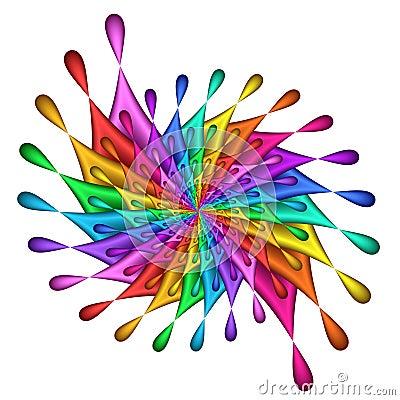 Free Rainbow Teardrop Pinwheel - Fractal Image Stock Photography - 98772