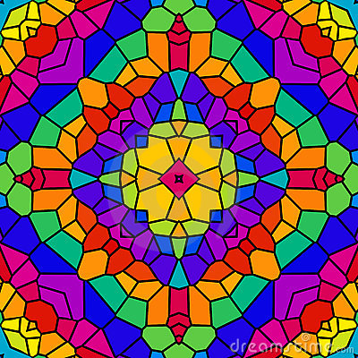 Free Rainbow Tile Kaleidoscope Royalty Free Stock Photography - 5999197