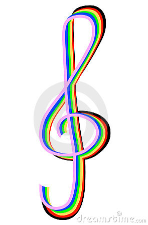 Rainbow treble clef