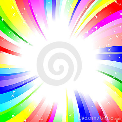 Rainbow twirl background