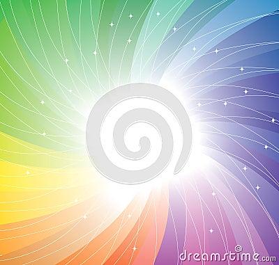 Rainbow twirl background. Vector