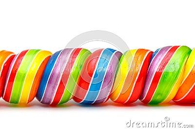 Rainbow Twirl Lollipop Candies