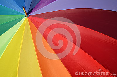 Rainbow umbrella as a chromatic circle