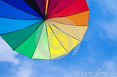 Rainbow umbrella s background