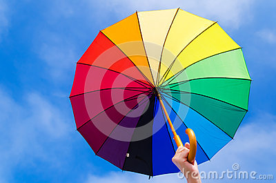 Rainbow umbrella s background