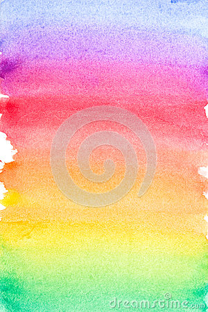 Free Rainbow Vivid Watercolor Background Stock Photography - 37034322