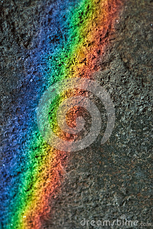 Rainbow on the wall