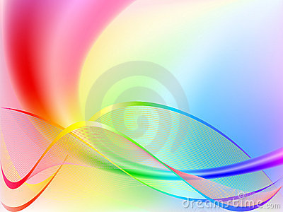 Rainbow Wave Background Royalty Free Stock Photo - Image: 14908085