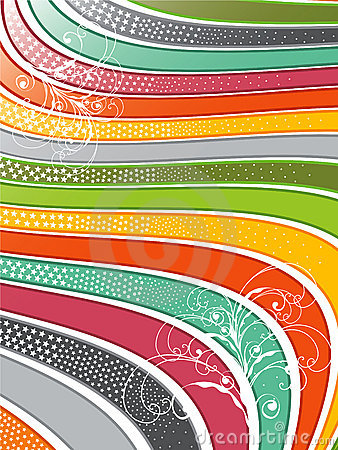 Free Rainbow Wavy Lines Swirls Royalty Free Stock Photography - 3634847