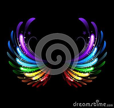 Free Rainbow Wings Stock Image - 33520991